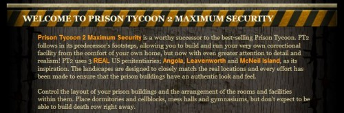 Prison Tycoon Intro Screen