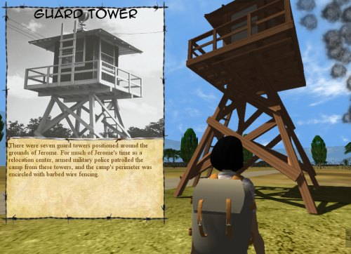 "Guard Tower in ""Jane's Favor"""
