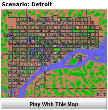 Detroit Scenario from Micropolis/SimCity