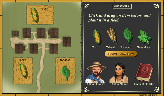 Making a decision about crops