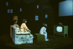 A 1980s version of Spaceship Earth's TV Watching Family. (image source.)