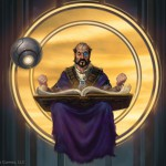 The Floating Scholar, TM and © 2013 Monte Cook Games, LLC.