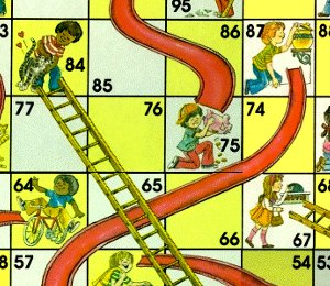 Although Chutes and Ladders much of the moralizing tone of its predecessors, the symbolism of actions and consequences remained.