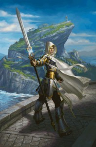 Fig. 7 Elspeth, the Sun's Champion, an MTG character adjusted to fit the mythological setting