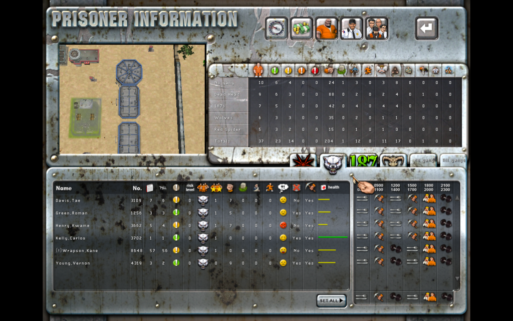 PT 4 Prisoner Management Panel