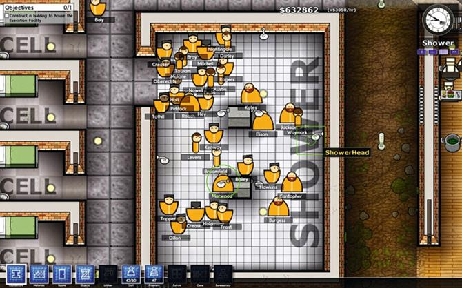 Prison Architect: Shower Scene