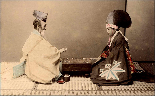 Photo credit: Okinawa Soba. Shinto Priest and Actor Playing a Game of Go.
