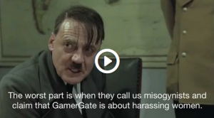 "Still from a ""Downfall / Hitler Reacts"" reaction video (watch youtube)."