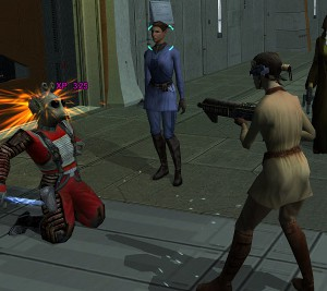 Standards for good and bad actions in Knights of the Old Republic II differ little from modern Western standards.