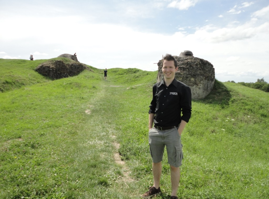Jos Hoebe of the Verdun Development Team: Field Trip at Fort Douaumont.