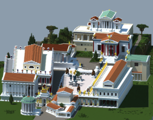 The Roman Forum during the Age of Augustus.