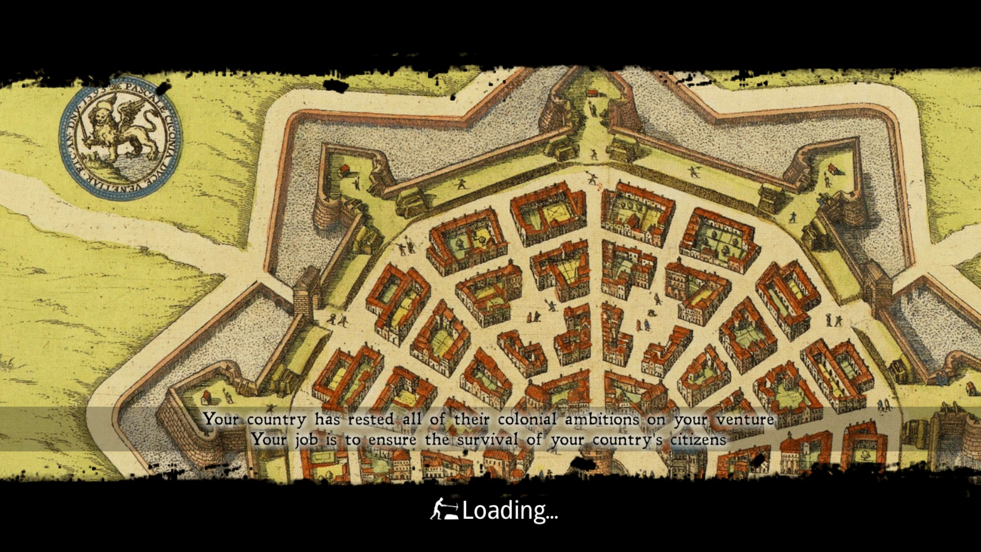 Once a town plan, now a loading screen.