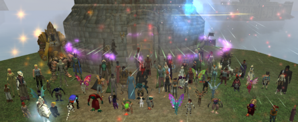 EQ2 players gather at Ribbitribbit's home
