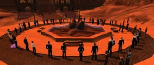 A vigil for Leonard Nimoy held in the game Star Trek Online shortly after his death in February 2015