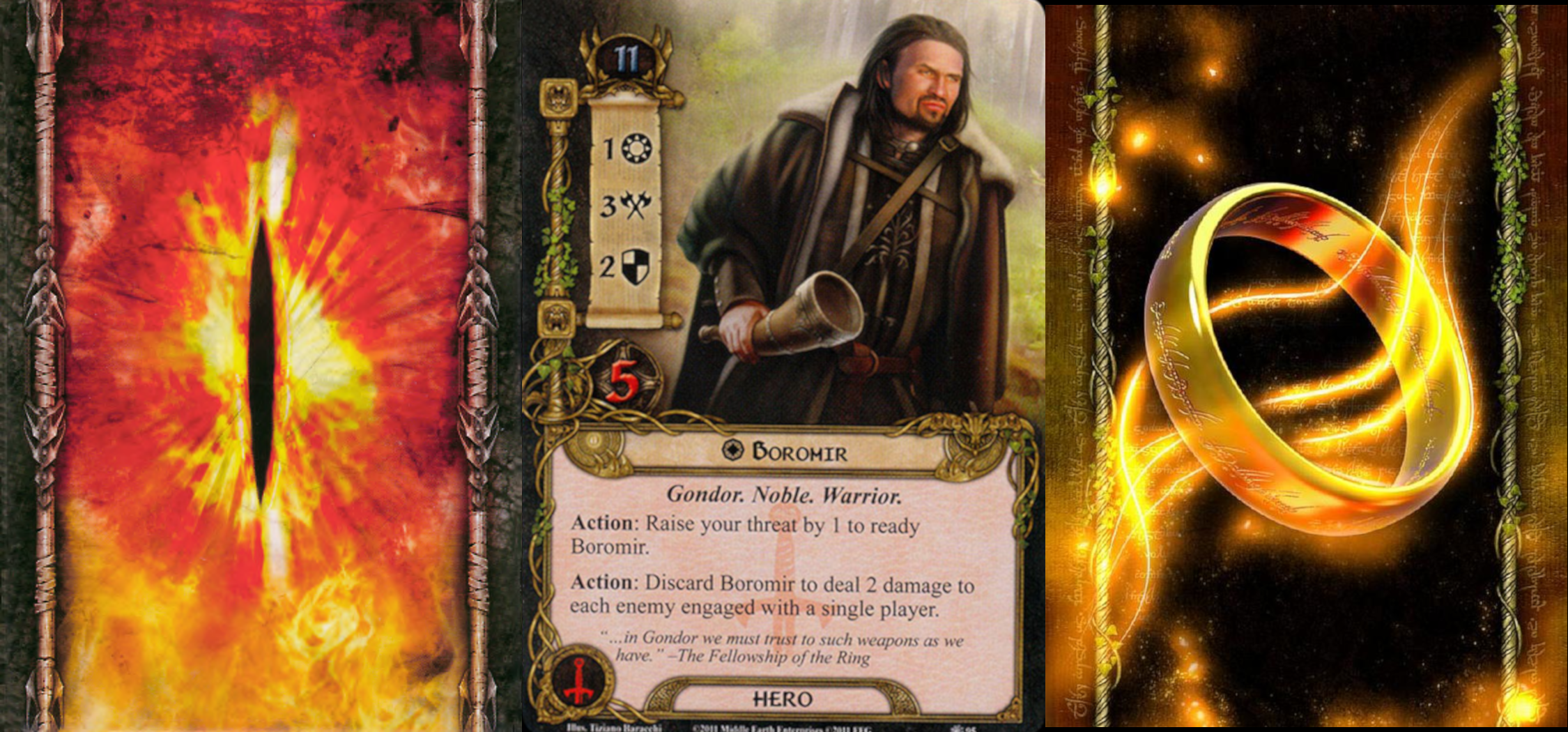 Cards from the Lord of the Rings Living Card Game